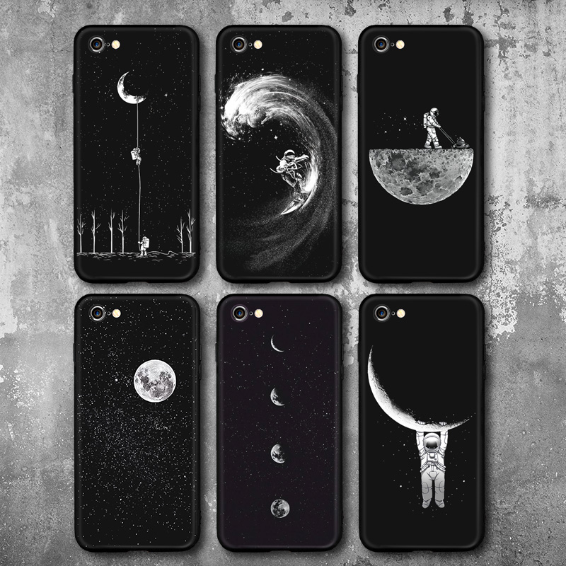Cool Space Moon Astronaut Phone Cases For iphone 6 6s For