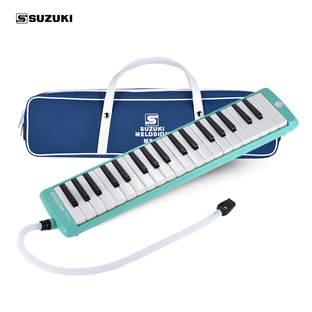 SUZUKI MX 37D 37 Key Melodion Melodica Pianica Instrument with Long Short Mouthpiece Carry Bag Cleaning