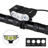 8000 Lm 3xXM-L T6 LED vélo lumière vélo lumières phare + 12000mAh batterie Pack + bandeau avec chargeur