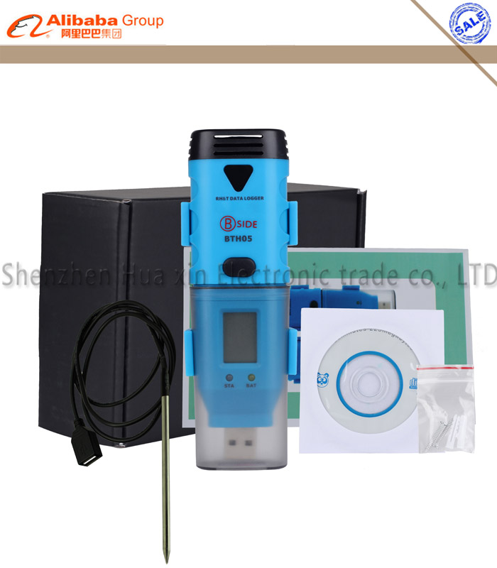 BSIDE BTH05 Portable USB three channel temperature and humidity data Logger Recorder 1pc bside bth04 digital usb temperature data logger reading recorder