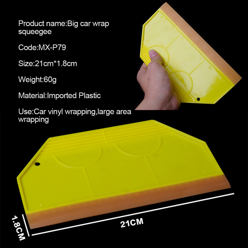 Image 2 - Professional Tinting Tools Squeegee Yellow Handled With 21cm Scraper Silicone Wiper Blade For Large Area Tinting P 79-in Car Stickers from Automobiles & Motorcycles