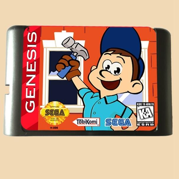 Top qualité 16 bits Sega MD jeu Cartouche pour Megadrive Genesis système --- Fix-it Felix