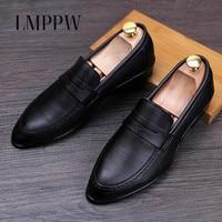 Luxury Desinger Black White Men Wedding Shoes Genuine Leather Oxfords Shoes Comfortable Casual Men Leather Shoes