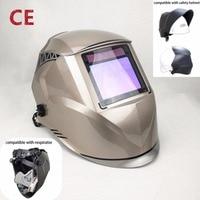 Welding Mask Best Optical Quality 1/1/1/1 Big View 100*73MM 3.94*2.87 Respirator Safety Hat Compatible CE Solar Welding Helmet