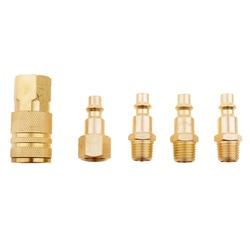 5 peças 1/4 nnnpt linha de ar mangueira compressor montagem conector liberação rápida acessórios do carro