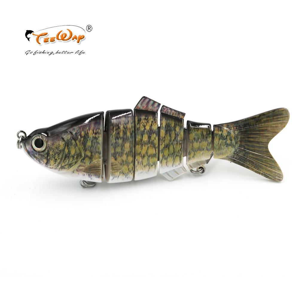 New Product Fishing Lure 6 Segment Swimbait Crankbait Hard Bait Slow 110g 20cm Fishing hook Fishing Tackle FL6-B03