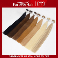 FOREVER HAIR 0.8g/s 16 18 20 Remy Micro Ring Beads Human Hair Extensions Light Blonde #613 Pre Bonded Nano Ring Human Hair