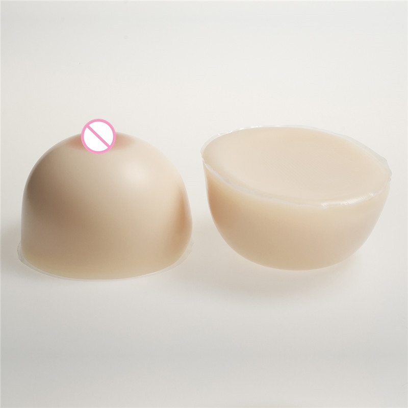 Buy 2800g/Pair Artificial Breast Forms White Silicone Boobs Transvestite Drag Queen Shemale Breasts Bust Enhancer Classic Round
