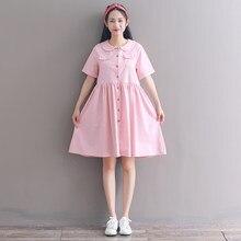 c045d2d168594 Pink Dress Peter Pan Collar Promotion-Shop for Promotional Pink ...