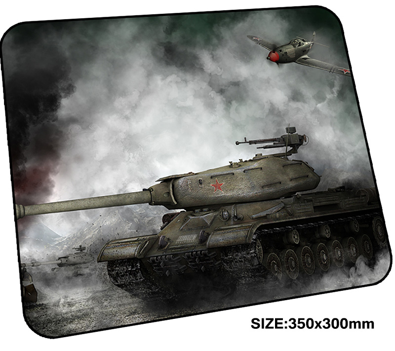 World of Tanks mousepad gamer 350x300x3mm gaming mouse pad Customized notebook pc accessories padmouse present ergonomic mat ...