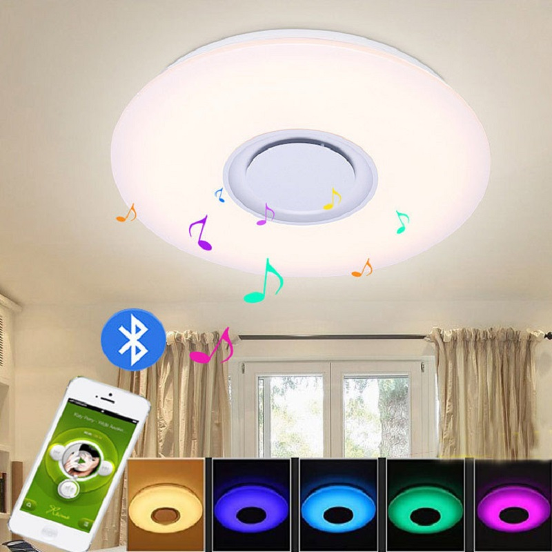Ceiling Lights & Fans Lovely Modern Led Ceiling Lights Rgb Led Lamp Panel Round Led Ceiling Light App Remote Control Bluetooth Music Light Bedroom Light Outstanding Features