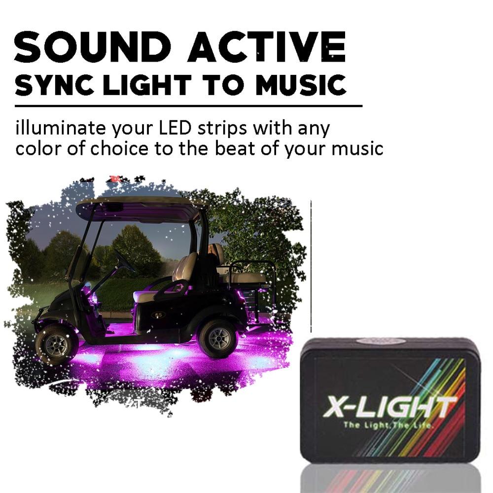 X LIGHT Bluetooth Golf Cart Under Glow LED Lighting Kit   RGB ... on