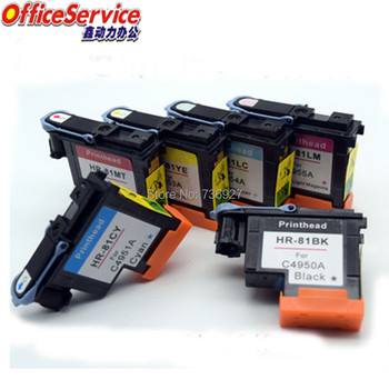 81 print head , Re-Manufactured printhead for HP81, Ink Cartridge Head C4950A-C4955A, Compatible for HP5000 HP5500ps printer