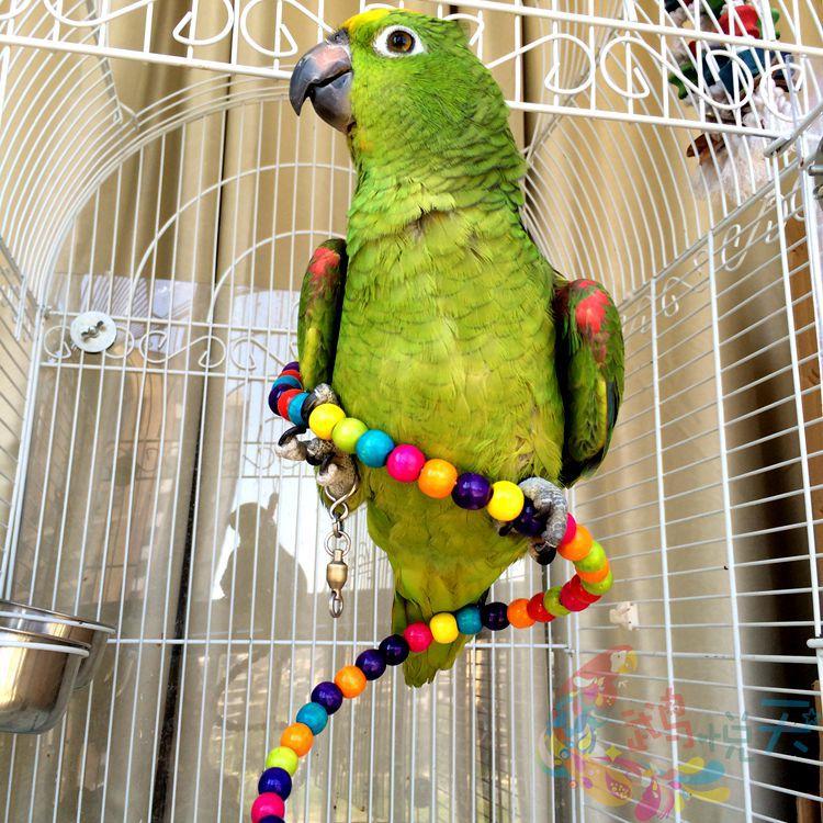 Vögel Vogelspielzeug Holz Schaukel für Nymphensittiche Wellensittich Papagei