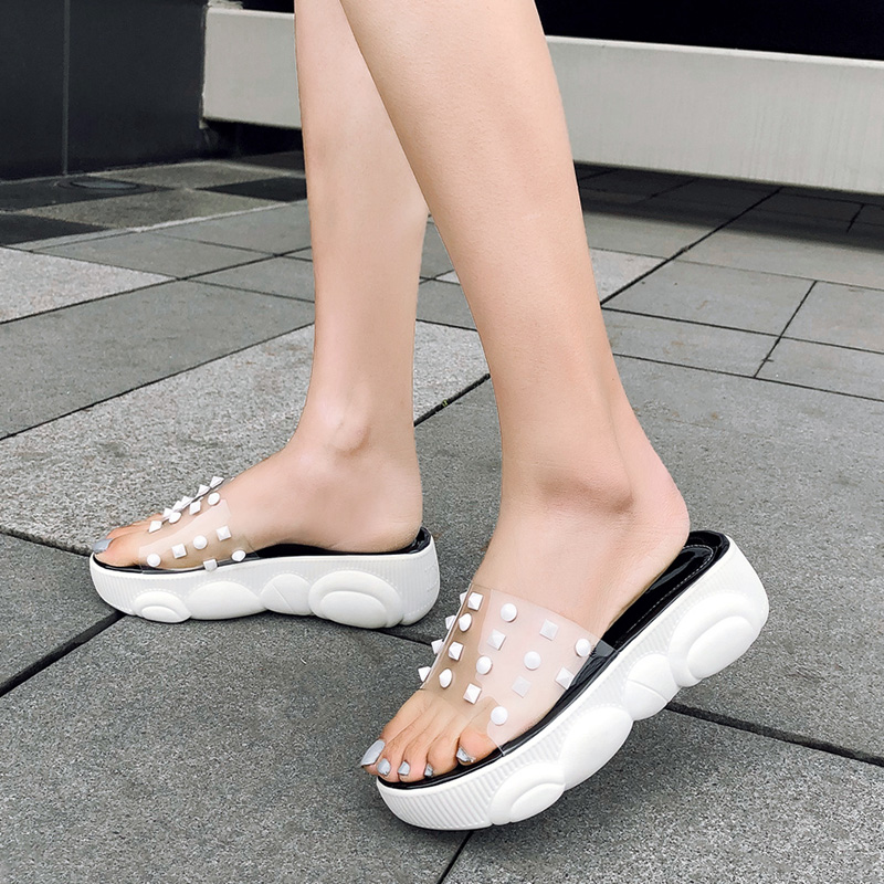 Casual Summer Donna Shoes plateau Bianco Summer Size Pantofole New Slides Doratasia Beach 2019 con Nero Big Girl 29 Donna 46 Sweet wZqT6UT