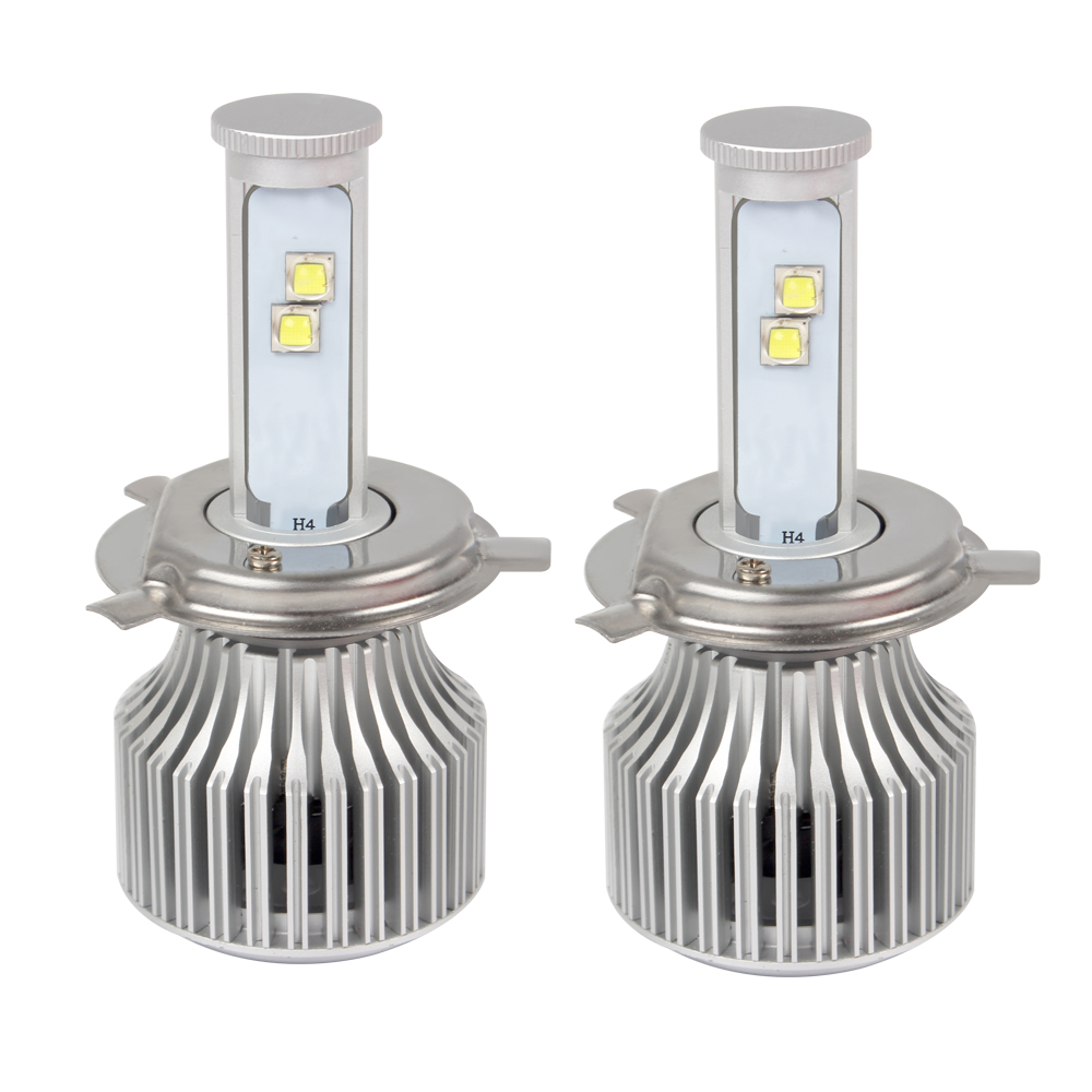 2pcs 6000K H4 Car Headlight Version of X7 LED All-in-one Car Styling Hi/Lo Headlamp Easy to Install High Low Beam 60W/Each Bulb free shipping 2pcs super bright car headlight 9007 hi lo h l high and low 60w 6000lm cob all in one led auto front fog bulb