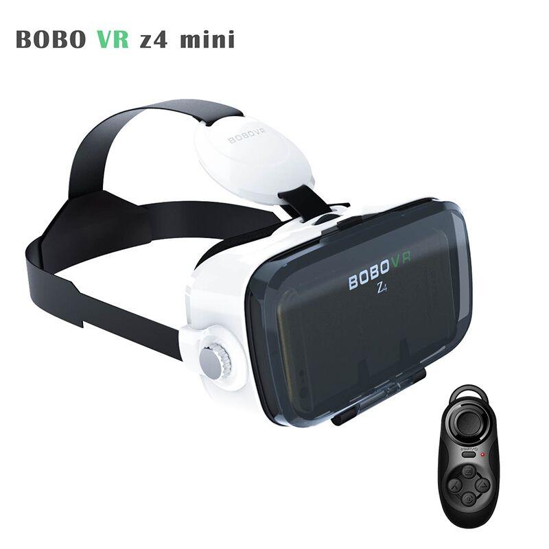 <font><b>xiaozhai</b></font> <font><b>BOBOVR</b></font> Z4 mini Cardboard 3D <font><b>Virtual</b></font> <font><b>Reality</b></font> Headset <font><b>VR</b></font> <font><b>Glasses</b></font> Helmet Head Mount For4-6.0'phone+Remote+Android Cable