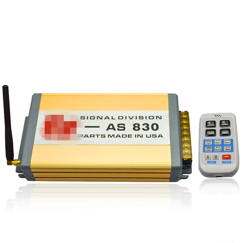 ФОТО Police Siren 200W 12V Car Alarm Siren Horn AS830 Wireless Remote 11 Sounds HD Propaganda Siren Host Only