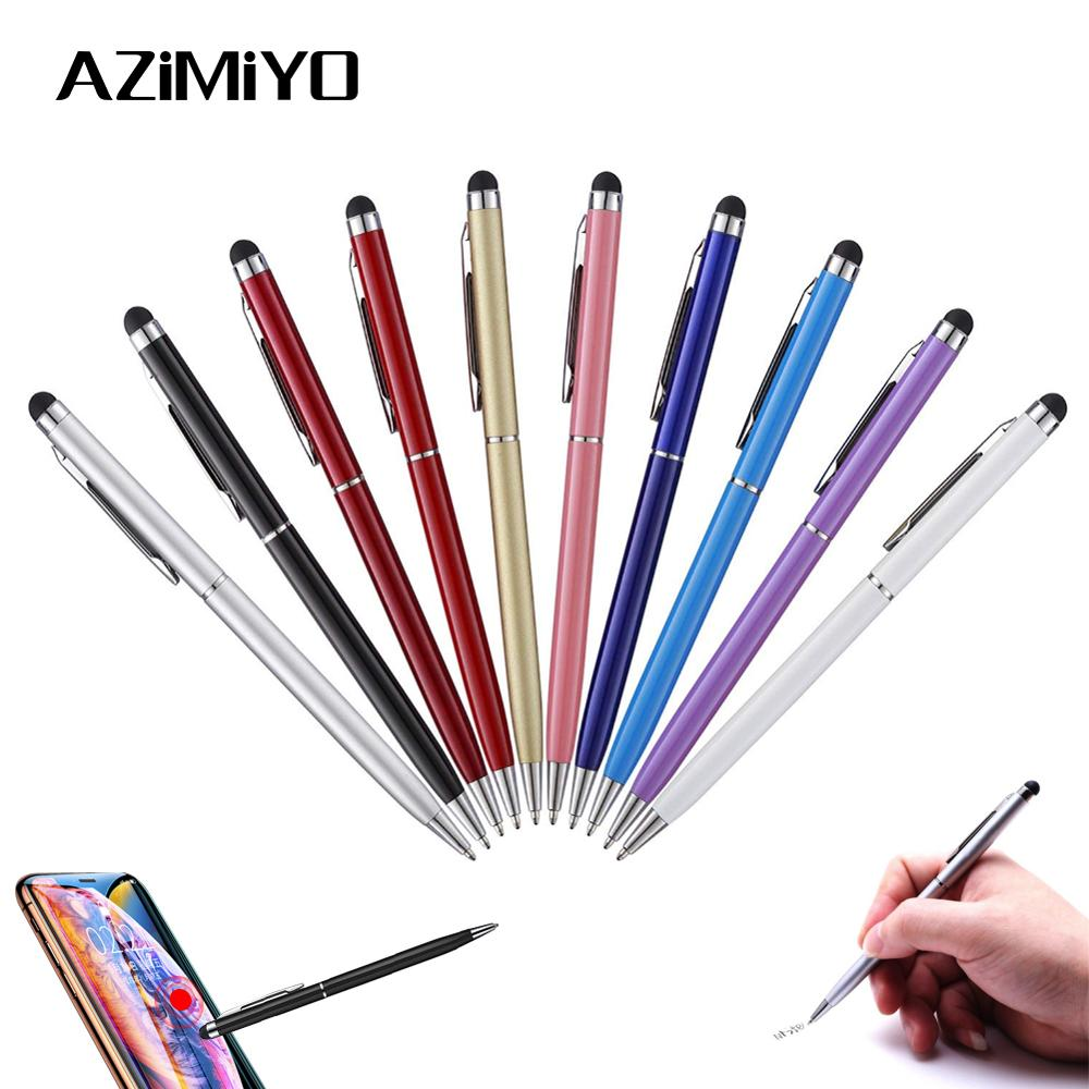 Azimiyo Stylus Capacitive Touch For Ipad For Iphone Micro Fiber Style Pen Touch For Samsung Htc Huawei Xiaomi