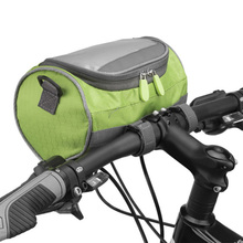 Bike Bag Nylon Bicycle Bags Front Tube 4.7-5.5 inch Cylindrical Cycling Handlebar Touch screen phone Storage