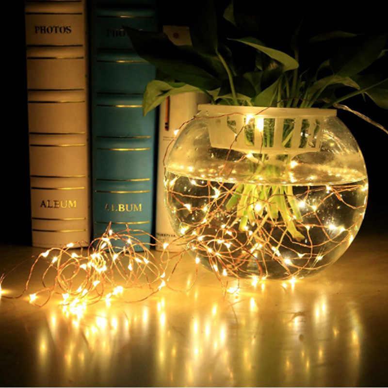 50 100 светодиодов водостойкий USB Led Фея огни строки белый/теплый белый/многоцветный 5 м 10 медный провод праздничные декоративные светильники