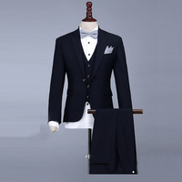 Luxury Men Suit 2017 Latest Coat Pant Designs Brand Clothing Luxury Mens Suits Wedding Groom Black