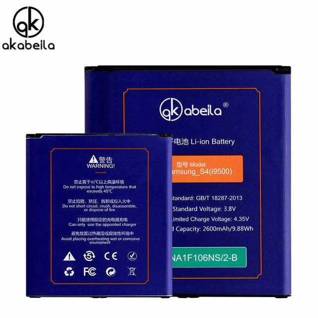 AKABEILA Mobile Phone Battery For Samsung I9500 Galaxy S4 SIV I9505 GT-I9500 S4 CDMA SCH-I545 I9502 I9508 Li-ion Batteries