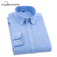 New Arrival 2018 Brand New Cotton Man Oxford Dress Shirt Solid Shirt Men Spring Casual Shirts Male Camisa Masculina Top YN10209