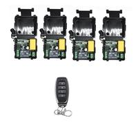 Universal Wireless Remote Control Switch AC 220V 1 Channel Relay Receiver Module and RF 433 MHz Remote Controls