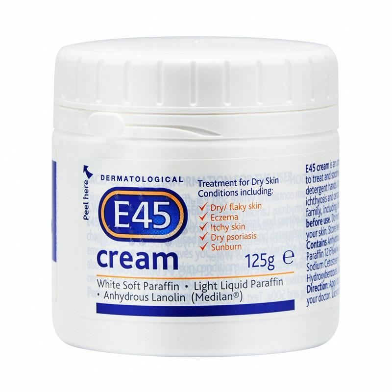 Original E45 Cream Treatment For Dry Skin 125ml Moisturizing Adult Baby
