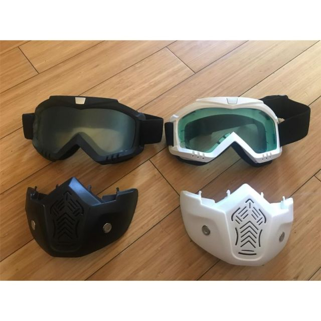 EXSPORT 2 Pack Detachable Face Masks, Tactical Mask With Protective Goggles Compatible For Nerf Rival , Apollo, Zeus, Khaos, Atl 3