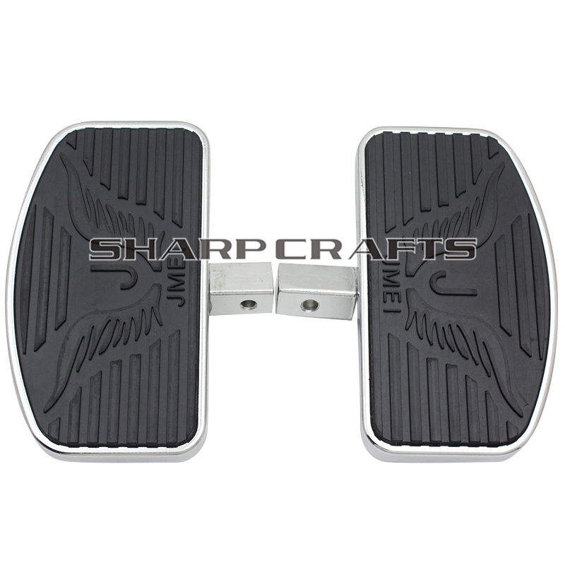 04 12 204mm Front Rider Rear Passenger Floorboards Footboards Foot pegs Motorcycle For Shadow ACE VT400