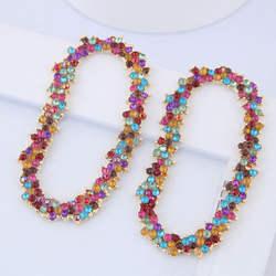 Модные женские серьги с геометрическими кристаллами
