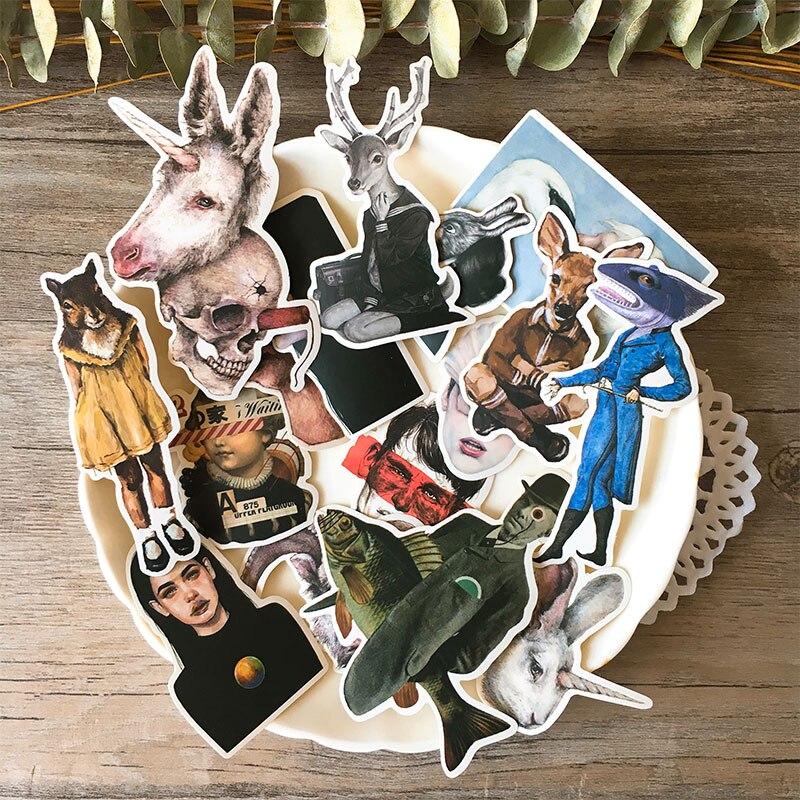17pcs Creative Cute Self-made Retro Tn Sticker Pack  Scrapbooking Stickers /decorative Sticker /Children DIY Craft Photo Albums
