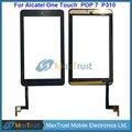 """Qualidade Top 7.0 """"para alcatel one touch pop 7 p310 p310a p310x digitador da tela de toque do painel de vidro frontal sensor de cor preta"""