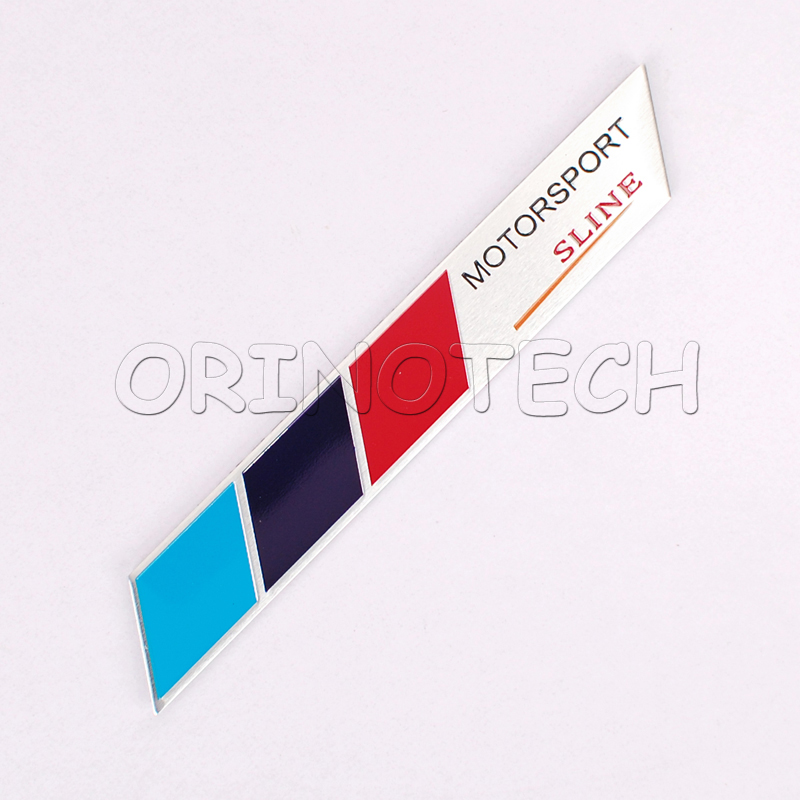 Motorsport Sline M 3 Colors Badge Emblem Sticker For Bmw 3