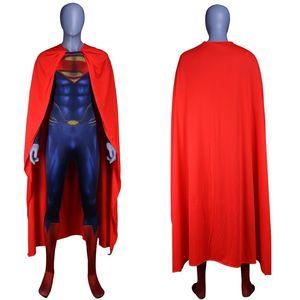 Image 3 - Men Boys Superman Man of Steel Cosplay Costumes Tights Jumpsuits Superhero Event Halloween Superman Costumes Zentai Suit Cloak