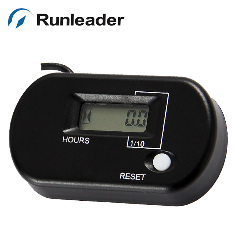 Waterproof LCD Hour Meter for any gas petrol engine ATV Motorcycle Snowmobile jet ski motocross MX pit bike outboard lawn mower
