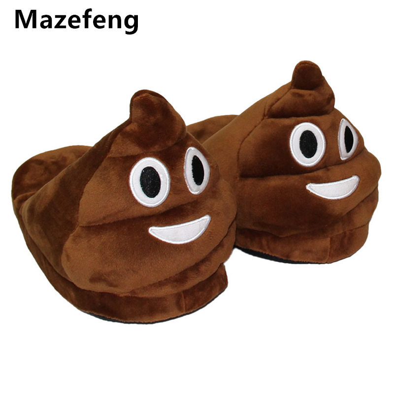 Mazefeng Cute Funny Winter Women&men Slippers Unisex Brown Fashion Plush Female Indoors Slippers Home Plain Warm Slippers Mlae usb powered funny cute stress relieving humping spot dog toy brown chocolate white