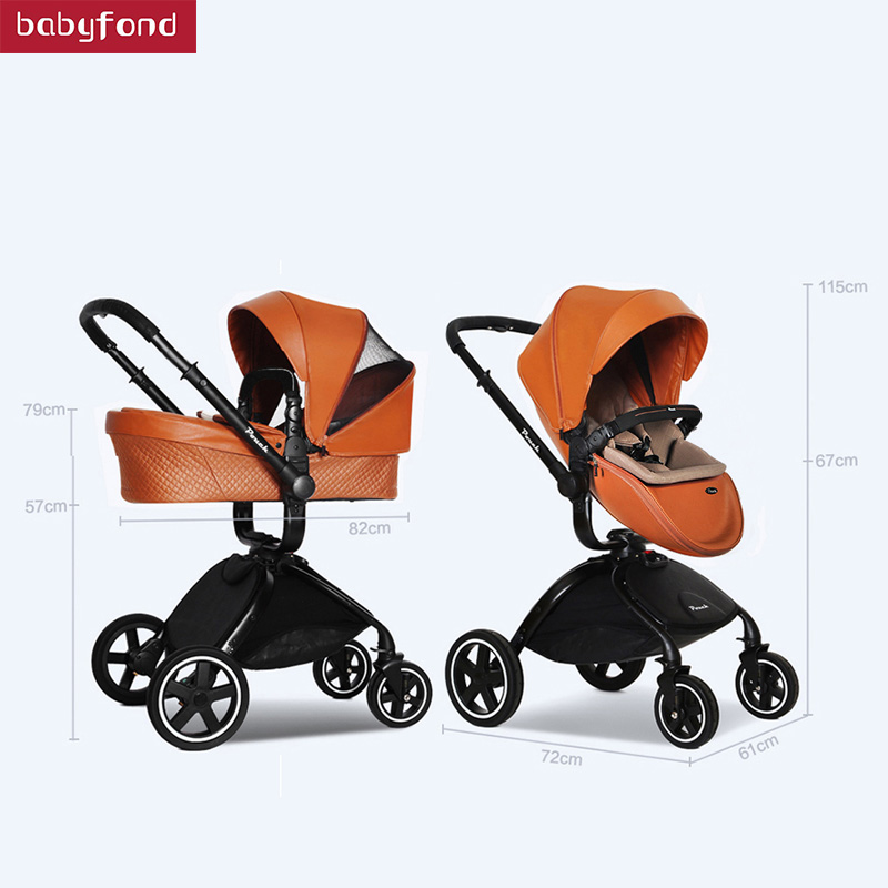 Light luxury baby stroller high landscape shock absorber folding childrens trolley can sit lie baby bb car winter and summerLight luxury baby stroller high landscape shock absorber folding childrens trolley can sit lie baby bb car winter and summer
