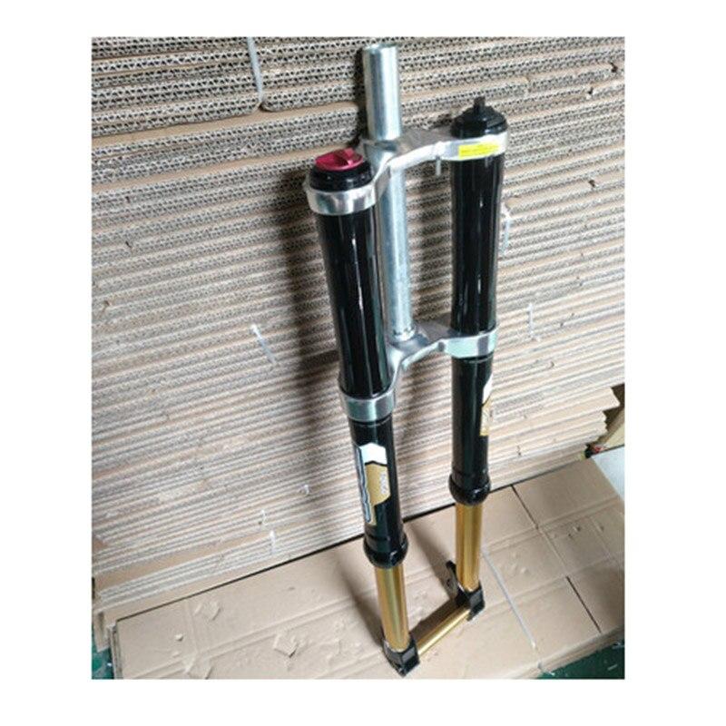 DH Downhill Bike Stroke Suspension Fork Disc Brake Fork Aluminum Alloy 180MM Travel QR20mm Cylinder Shaft Fork