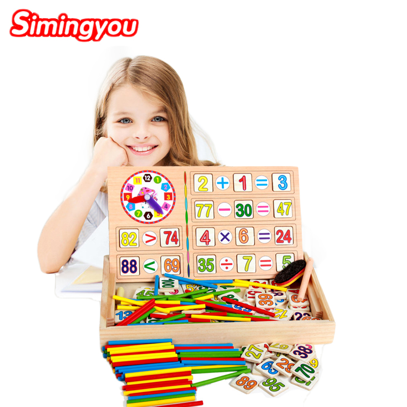 Simingyou Montessori Wooden Toys Educational Baby Montessori Materials Math Toys Children Educative Toys Drop Shipping 50pcs hot sale wooden intelligence stick education wooden toys building blocks montessori mathematical gift baby toys