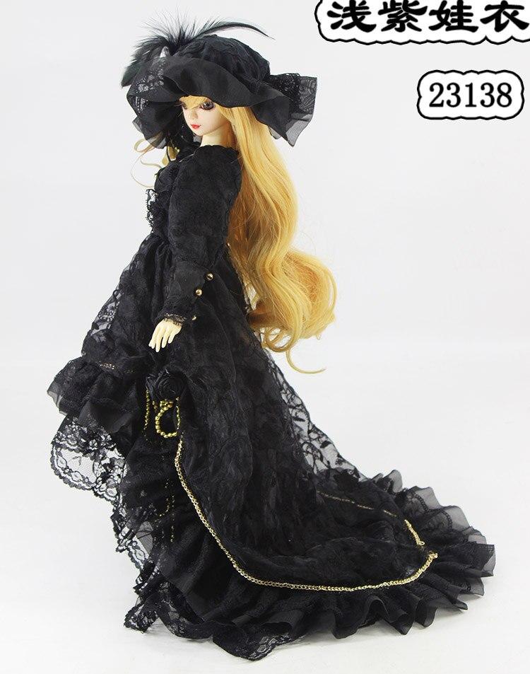1/4 1/3 skala BJD płaszcz + sukienka + torba + zestaw kapeluszy dla BJD/SD odzież akcesoria dla lalek, nie zawiera lalki, buty, peruki, i akcesoria 1552 w Akcesoria dla lalek od Zabawki i hobby na  Grupa 2