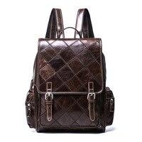 FSINNLV High Quality Genuine Leather Top handle Women Backpack Female Travel Bags Women Shoulder Bag Girls School Backpack HB100
