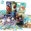 306 Шт. железный ящик мультфильм головоломки деревянные игрушки для детей детские образовательные головоломки игрушки большие подарки