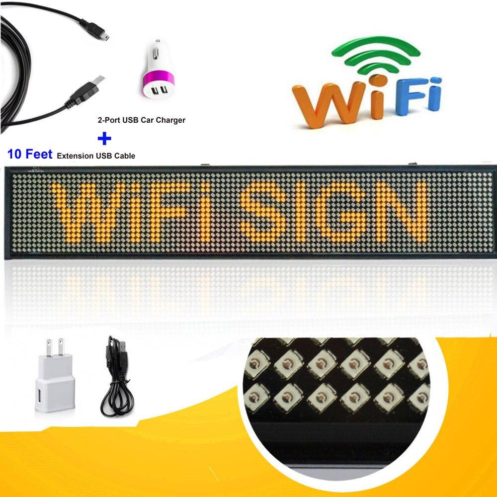 12 V 50 cm P5 SMD Auto lkw Taxi heckscheibe Zeichen scrollen LED-Display Board durch drahtlose Schnell Programmierbaren Unterstützung Auto ladegerät