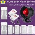 Seguridad dorada 110dB inalámbrico sirena alarma sistema de seguridad para casa alarma antirrobo seguridad PIR Detector Sensor de puerta