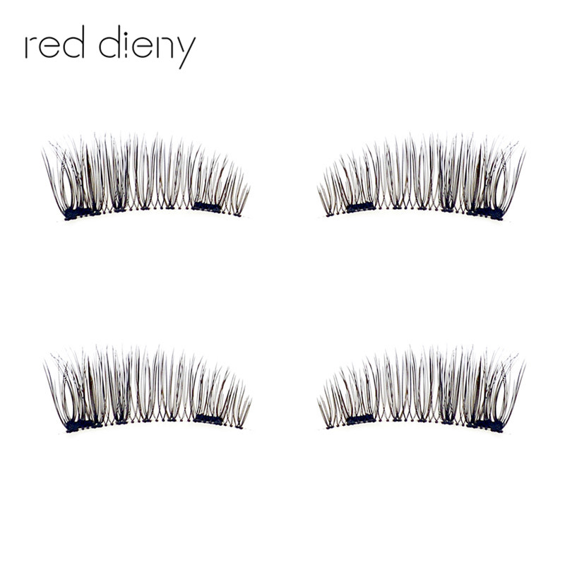 Double Magnetic Eyelashes Maquiagem False Lashes Magnetic Lashes False Eyelashes High Quality Makeup 3d Lashes Kit Set 4pcs pair