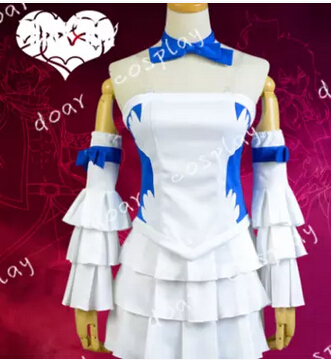 Free shipping Fairy Tail Juvia Lockser Cosplay Costume Halloween Costume any size