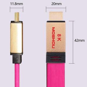 Image 5 - MOSHOU – câbles HDMI UHD HDR 48gbps, 4K @ 60HZ 8K @ 120Hz, pour Audio et vidéo, cordon HDMI 2.1